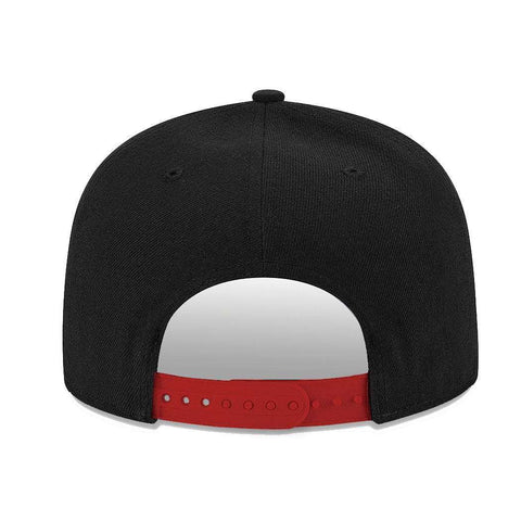 Chicago Bulls New Era NBA Team Pre-Curved 9FIFTY Snapback Hat - Black