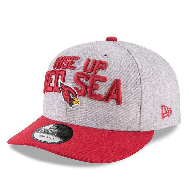Arizona Cardinals New Era NFL 2018 NFL Draft Pre-Curved 9FIFTY Snapback Hat - Heather