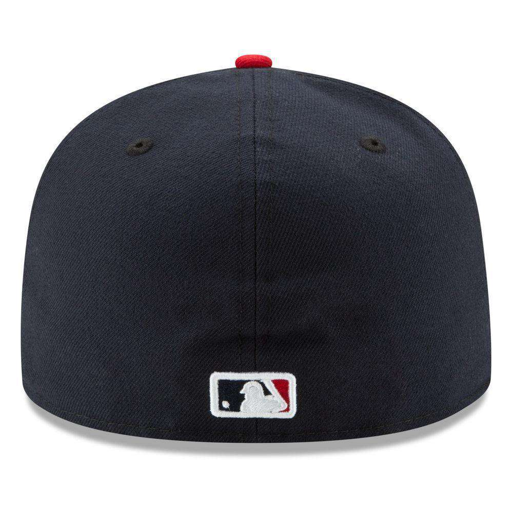 f68587d0 ... new arrivals atlanta braves new era mlb ac on field 59fifty fitted hat  navy 80a2c 6eed8