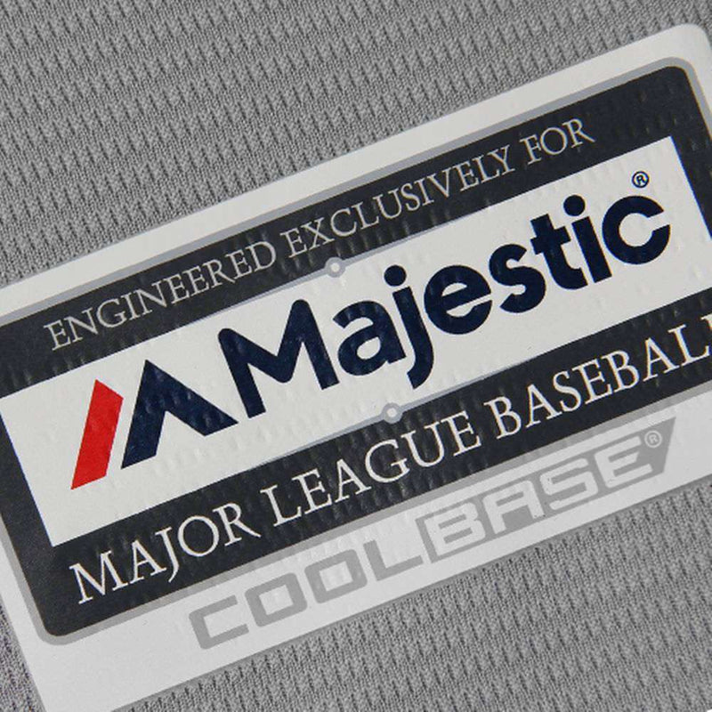 Cleveland Indians Majestic MLB AC Cool Base Replica Jersey - Grey