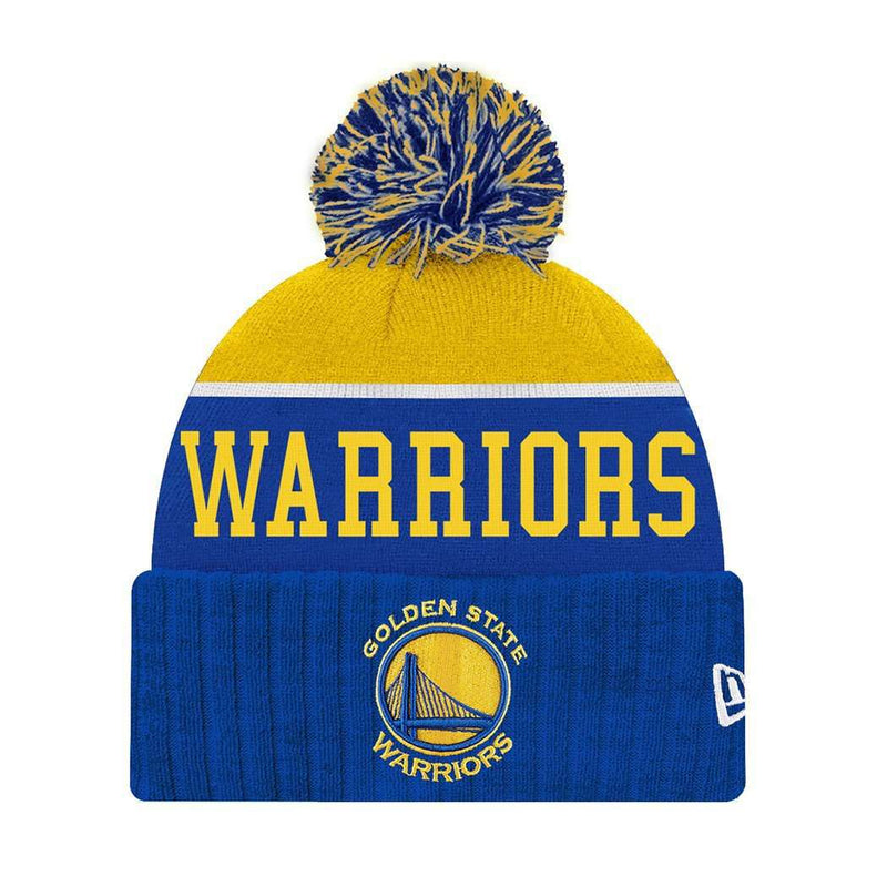 Youths Golden State Warriors New Era NBA Team Dip Beanie - Blue