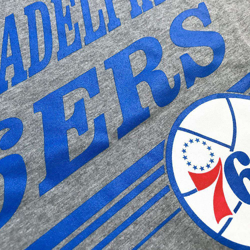 Philadelphia 76ers Mitchell & Ness NBA Spin Move T-Shirt - Grey