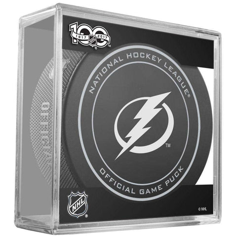 Tampa Bay Lightning Sher-Wood NHL Anniversary Puck w/Case