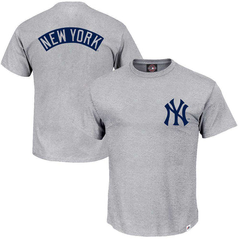 New York Yankees Majestic MLB Finter T-Shirt - Grey