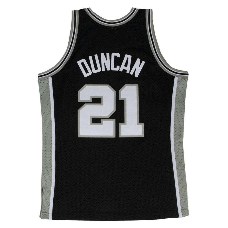 Tim Duncan San Antonio Spurs Mitchell & Ness NBA Swingman Jersey - Black