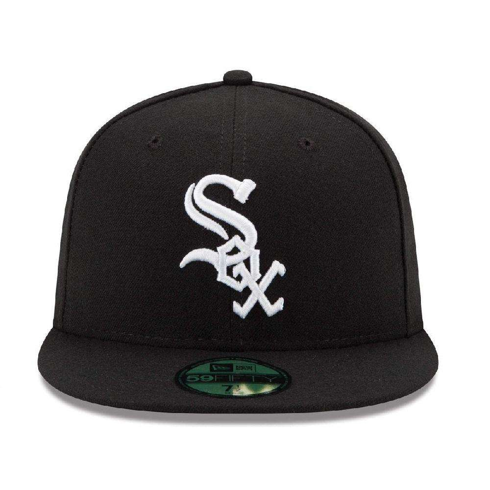 Chicago White Sox New Era MLB AC On-Field 59FIFTY Fitted Hat - Black ... ff6acd9a522