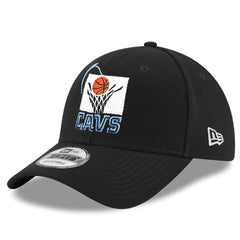 Cleveland Cavaliers New Era NBA Hardwood Classics Nights 9FORTY Curved Hat - Black
