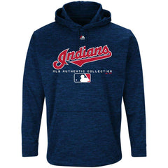 Cleveland Indians Majestic MLB Authentic Team Drive Hoodie - Navy