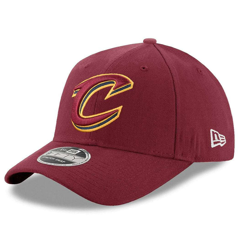 Cleveland Cavaliers New Era NBA Team Stretch Snap 9FIFTY Curved Snapback Hat - Burgundy