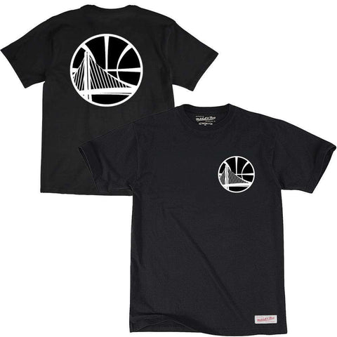 Golden State Warriors Mitchell & Ness NBA Mono Logo T-Shirt - Black