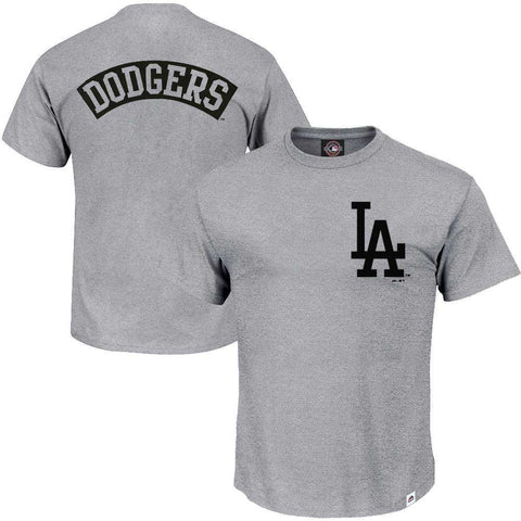 Los Angeles Dodgers Majestic MLB Finter T-Shirt - Grey