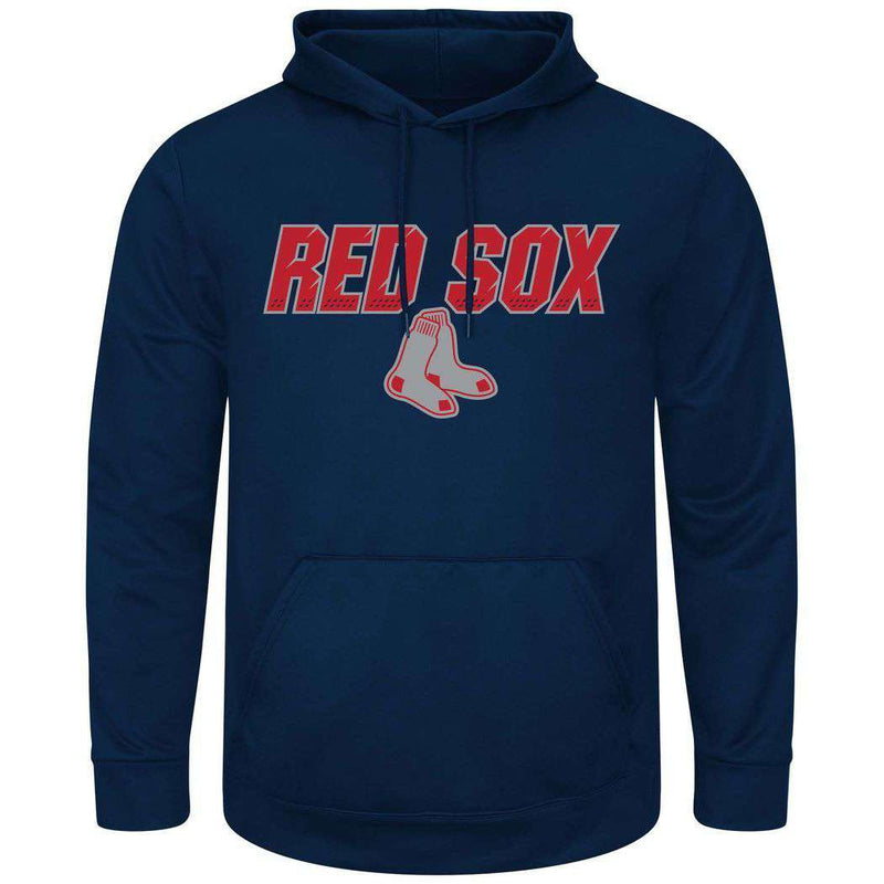 Boston Red Sox Majestic MLB High Energy Performance Hoodie Jumper - Navy