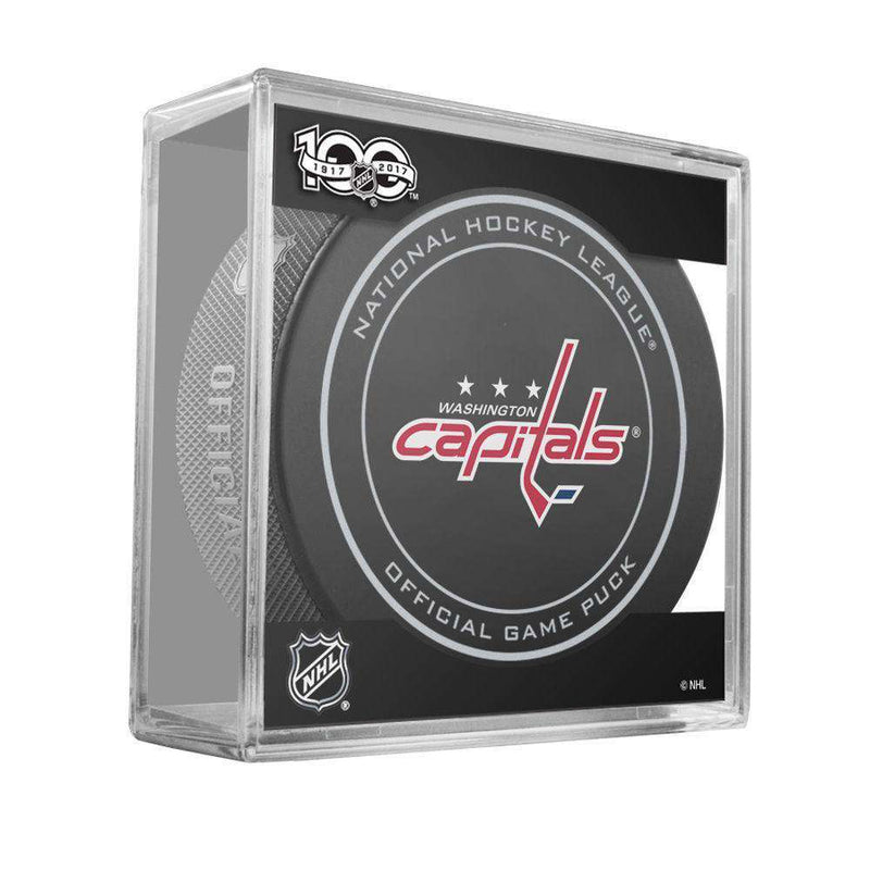 Washington Capitals Sher-Wood NHL Anniversary Puck w/Case