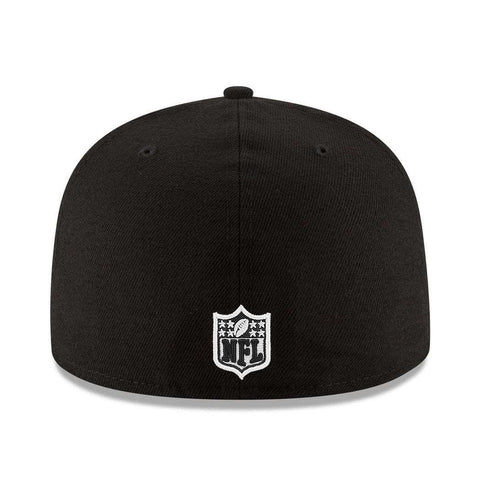Oakland Raiders New Era NFL Team 59FIFTY Fitted Hat - Black