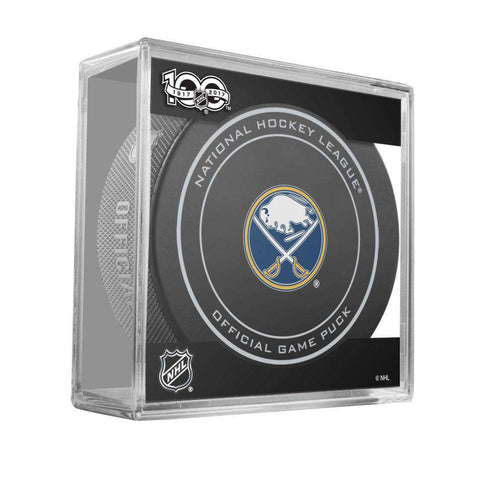 Buffalo Sabres Sher-Wood NHL Anniversary Puck w/Case