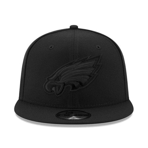 Philadelphia Eagles New Era NFL Black On Black 9FIFTY Snapback Hat