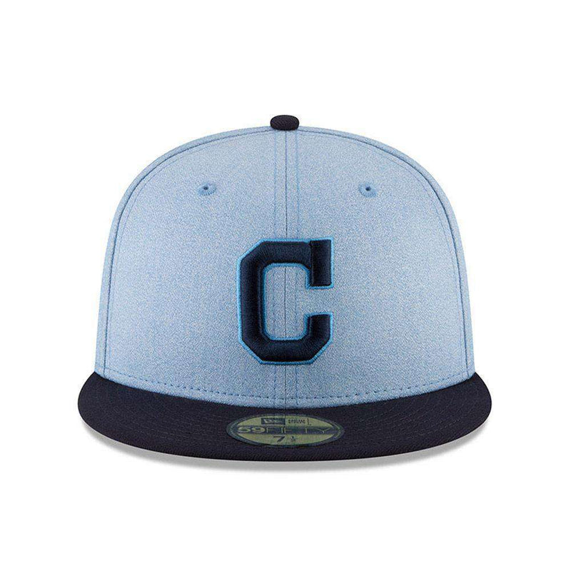 Cleveland Indians New Era MLB 2018 Fathers Day AC On-Field 59FIFTY Fitted Hat - Blue