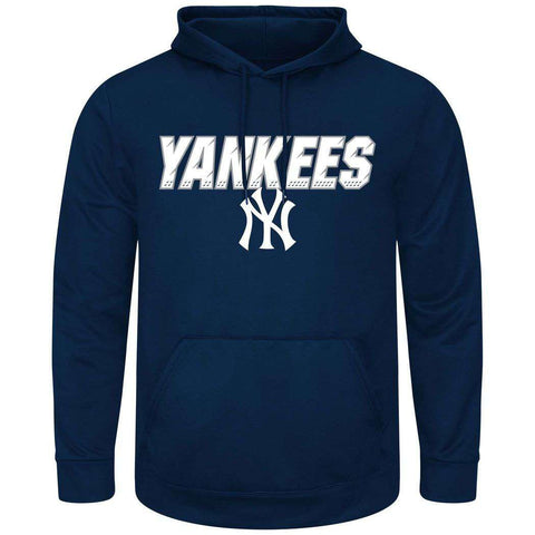 New York Yankees Majestic MLB High Energy Performance Hoodie Jumper - Navy