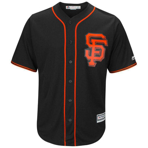San Francisco Giants Majestic MLB AC Cool Base Replica Jersey - Black