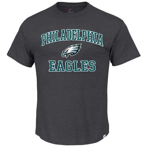 Philadelphia Eagles Majestic NFL Heart & Soul T-Shirt - Charcoal