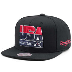 1992 USA Dream Team Mitchell & Ness NBA High Crown Snapback Hat - Black