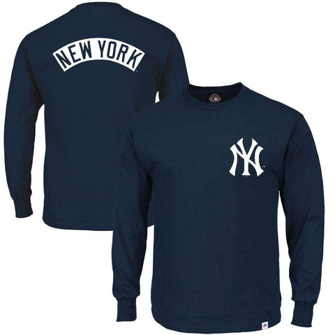New York Yankees Majestic MLB Fentyn Long Sleeve T-Shirt - Navy