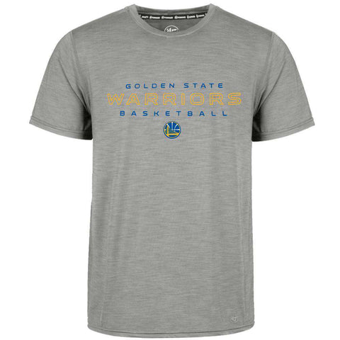 Golden State Warriors '47 NBA Microlite Performance Shade Rival T-Shirt - Grey