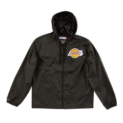 Los Angeles Lakers Mitchell & Ness NBA Team Captain Windbreaker Jacket - Black