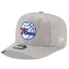 Philadelphia 76ers New Era NBA Heather Drop 9FIFTY Pre-Curved Snapback Hat
