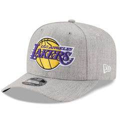 Los Angeles Lakers New Era NBA Heather Drop 9FIFTY Pre-Curved Snapback Hat