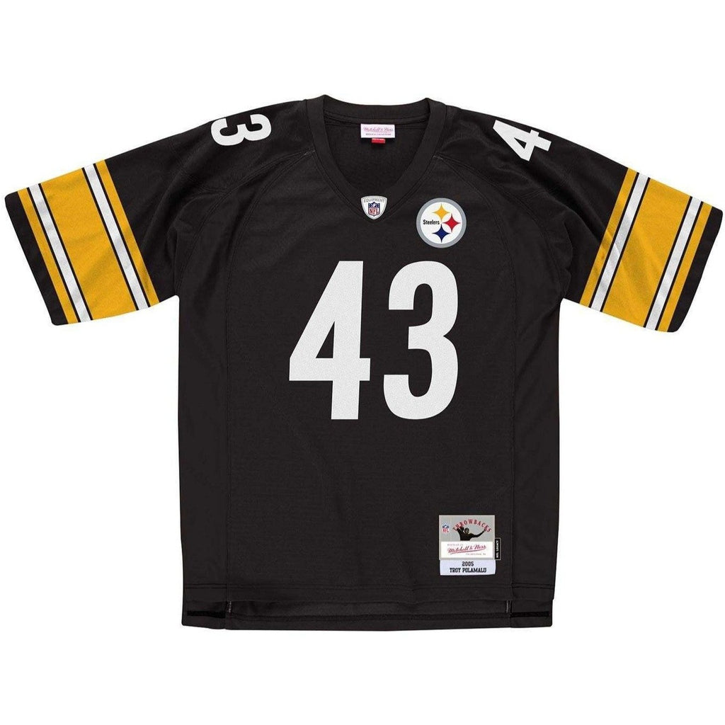 reputable site 43088 f4e17 Troy Polamalu Pittsburgh Steelers Mitchell & Ness NFL Legacy Jersey - Black