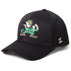 Notre Dame Fighting Irish Zephyr NCAA Foam Tech Mesh Curved Snapback Hat - Black