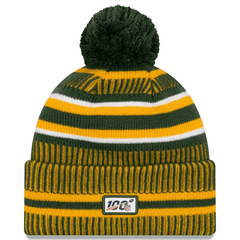 Green Bay Packers New Era NFL 2019 Sideline Home Knit Beanie - Green