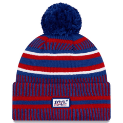 New York Giants New Era NFL 2019 Sideline Home Knit Beanie - Blue