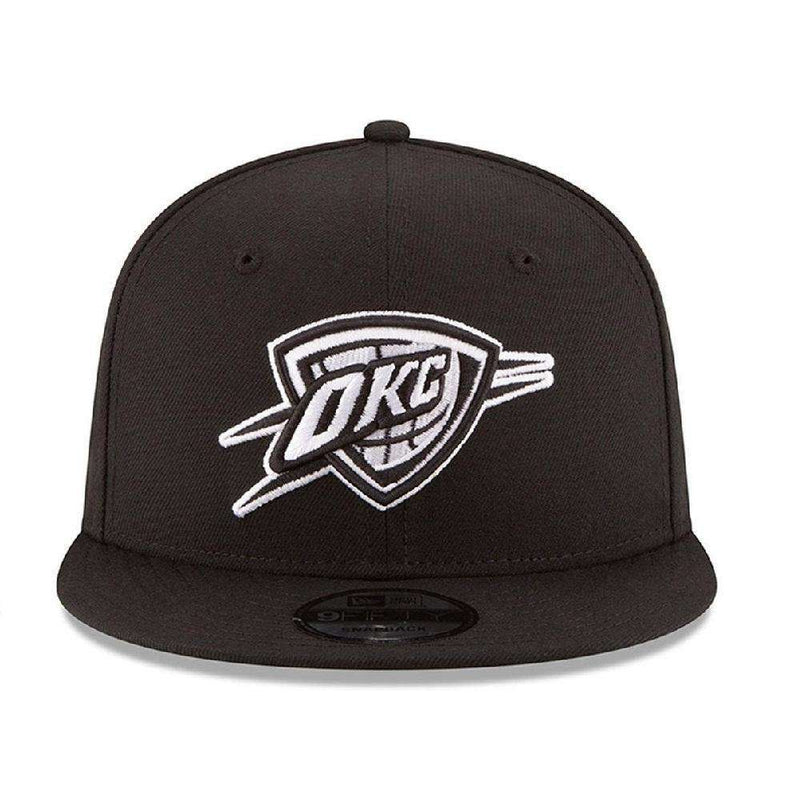 Oklahoma City Thunder New Era NBA Black & White 9FIFTY Snapback Hat