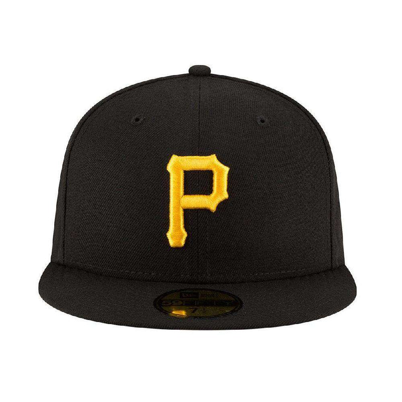 Pittsburgh Pirates New Era MLB AC On-Field 59FIFTY Fitted Hat - Black