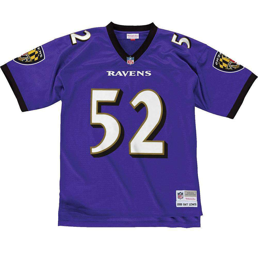 Ray Lewis Baltimore Ravens Mitchell   Ness NFL Legacy Jersey - Purple b71413974