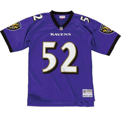 Ray Lewis Baltimore Ravens Mitchell & Ness NFL Legacy Jersey - Purple