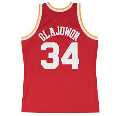 Hakeem Olajuwon Houston Rockets Mitchell & Ness NBA Swingman Jersey - Red