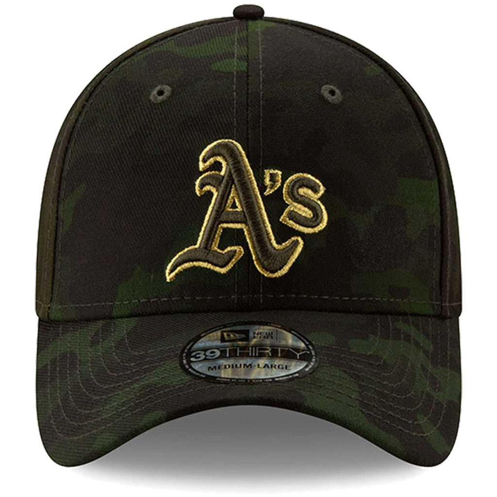 low priced b9117 b400c Oakland Athletics New Era MLB 2019 Armed Forces 39THIRTY Stretch Fit Curved  Hat - Camo