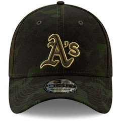 Oakland Athletics New Era MLB 2019 Armed Forces 39THIRTY Stretch Fit Curved Hat - Camo