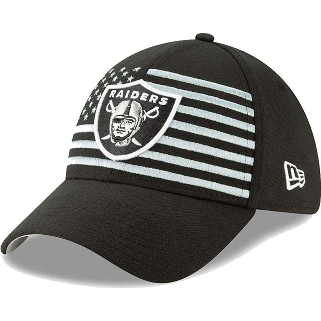 sports shoes ce8f8 0e7e3 ... oakland raiders new era 2019 nfl draft 39thirty stretch fit hat black