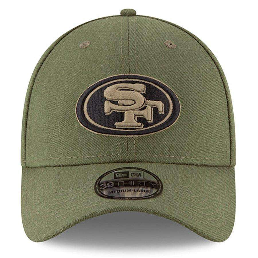 6cb1eaa64b8c1d ... promo code for san francisco 49ers new era nfl 2018 salute to service  39thirty stretch fit