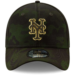 New York Mets New Era MLB 2019 Armed Forces 39THIRTY Stretch Fit Curved Hat - Camo