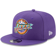 Utah Jazz New Era NBA Hardwood Classics Nights 9FIFTY Snapback Hat - Purple
