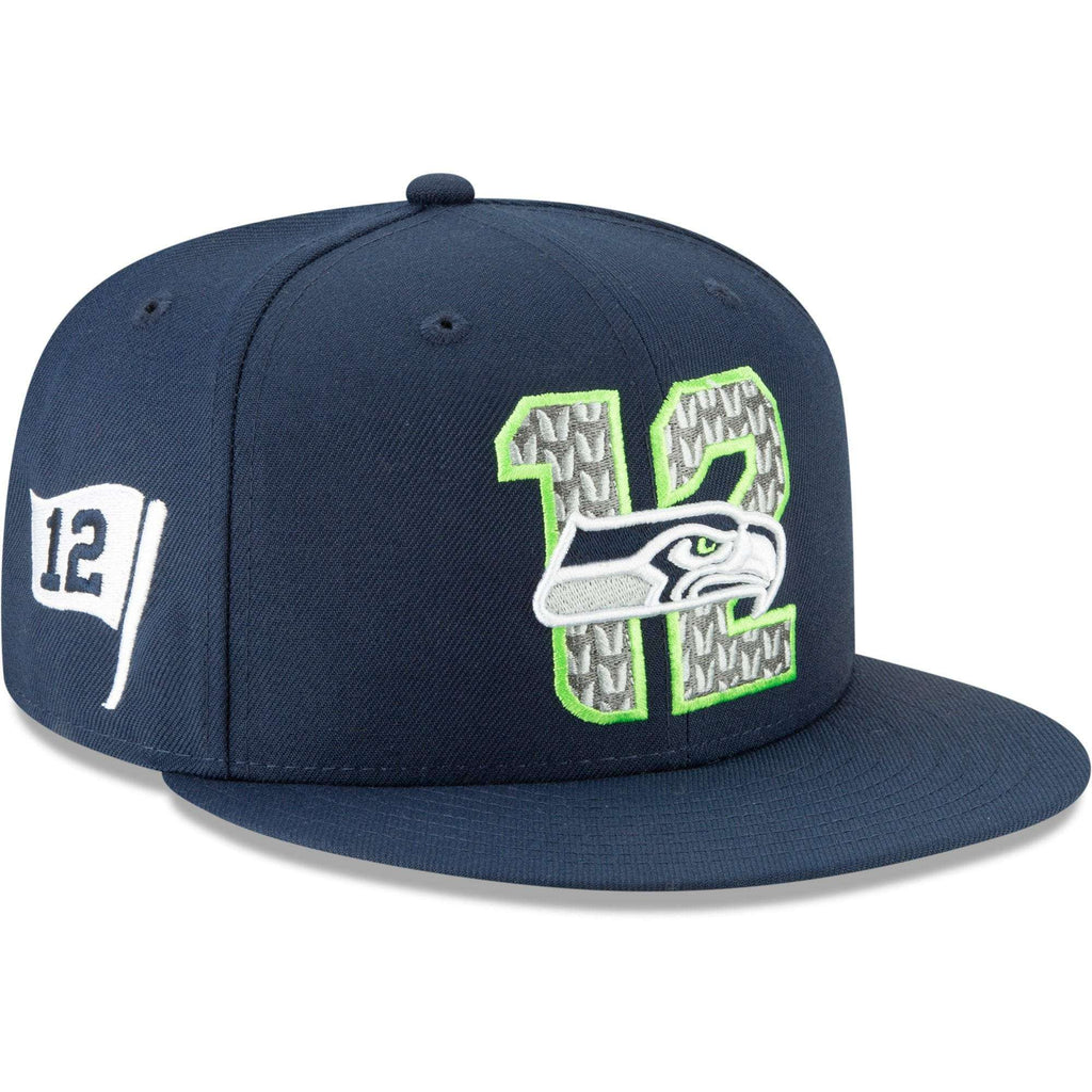 sports shoes 96680 8e161 Seattle Seahawks New Era 2019 NFL Draft 9FIFTY Snapback Hat – Navy