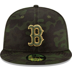 Boston Red Sox New Era MLB 2019 Armed Forces On-Field 59FIFTY Fitted Hat - Camo