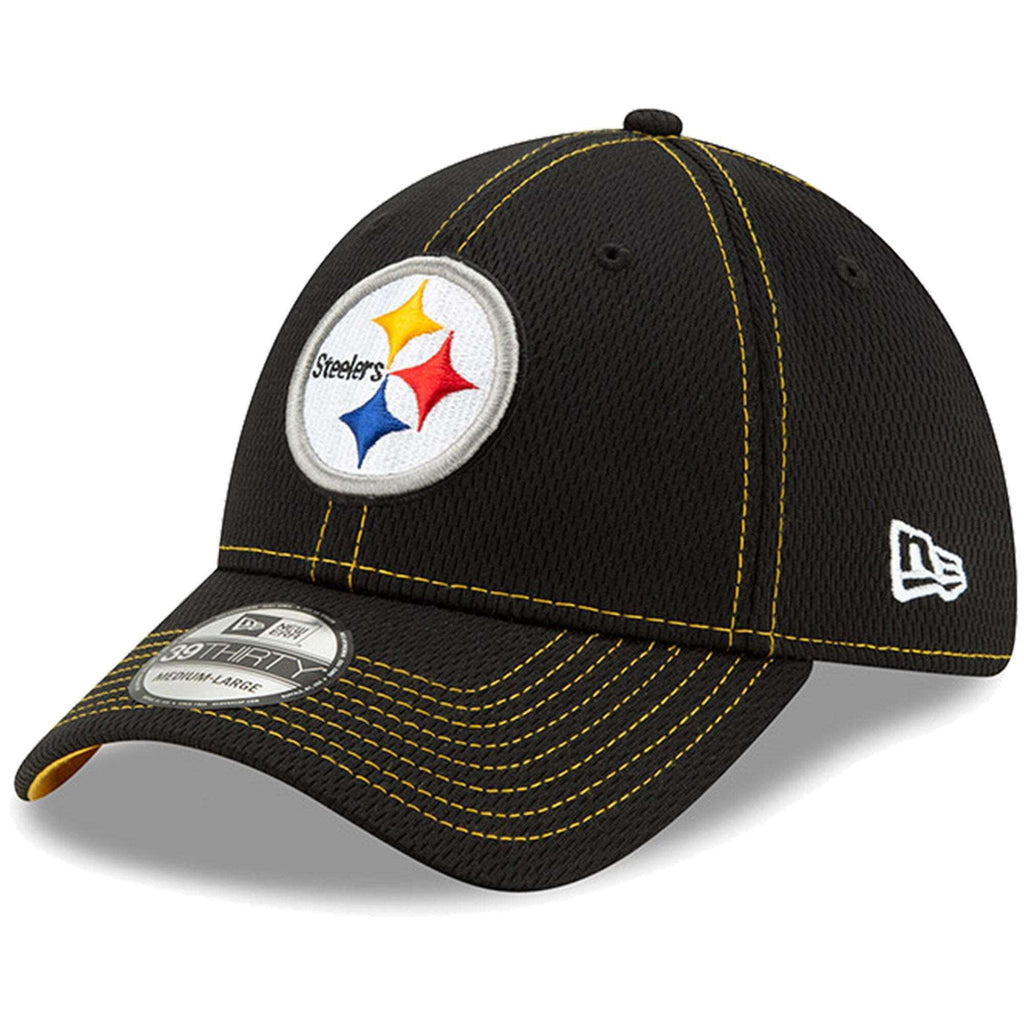 0f196387 Pittsburgh Steelers New Era NFL 2019 Sideline Road 39THIRTY Stretch-Fit  Curve Hat - Black