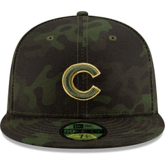 Chicago Cubs New Era MLB 2019 Armed Forces On-Field 59FIFTY Fitted Hat - Camo