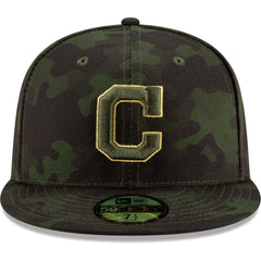 Cleveland Indians New Era MLB 2019 Armed Forces On-Field 59FIFTY Fitted Hat - Camo